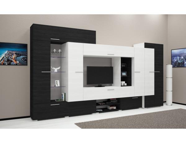 Komfort szekrénysor - Nero - Bianco