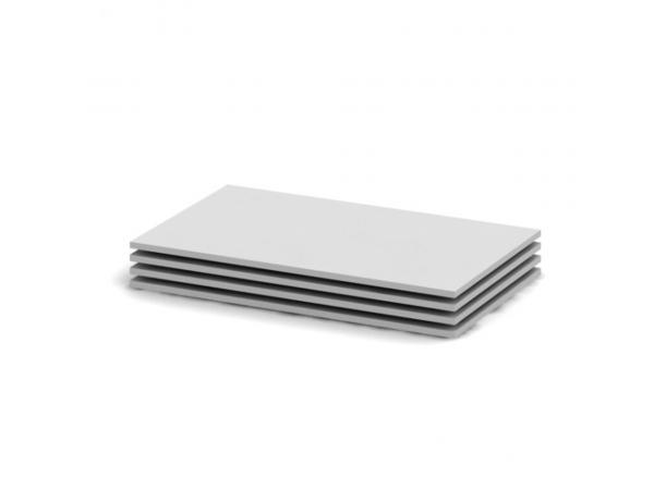 Polc szekrénybe, fehér, 4 db, 41,8x51,8, BETTY 2 BE02-013-00