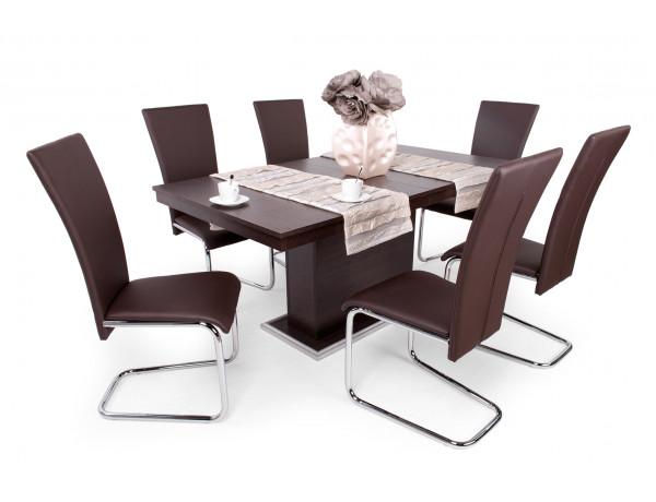 Paulo étkező Flóra asztallal (Wenge asztal- Fehér szék)