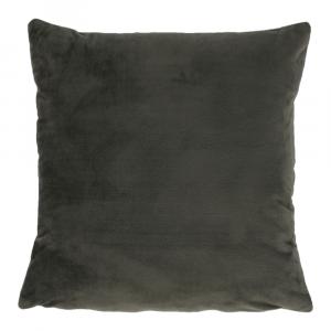 Párna, bársony anyag sötétzöld, 45x45, ALITA TYP 11