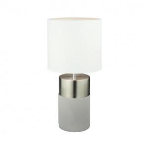 Asztali lámpa, világosszürke/fehér, QENNY TYP 19