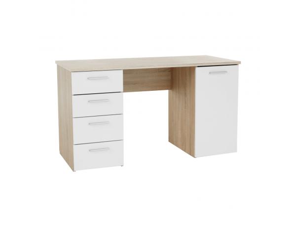 íróasztal, tölgy sonoma/fehér, EUSTACH