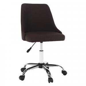 Irodai szék, barna/króm, EDIZ