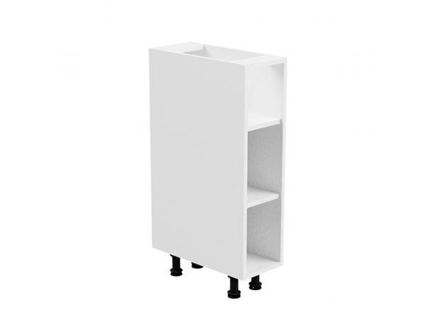 Alsószekrény, fehér/fehér extra magasfényű, balos, AURORA D30