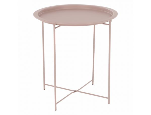 Kisasztal levehető tálcával, nude rózsaszín, RENDER