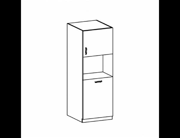 Hűtőgép szekrény, fehér/sosna északi, ROYAL D60P