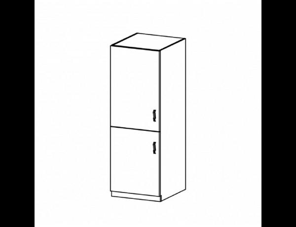 Hűtőgép szekrény, fehér/sosna andersen, balos, PROVANCE D60R