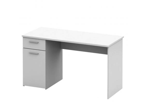 Íróasztal, fehér, EGON