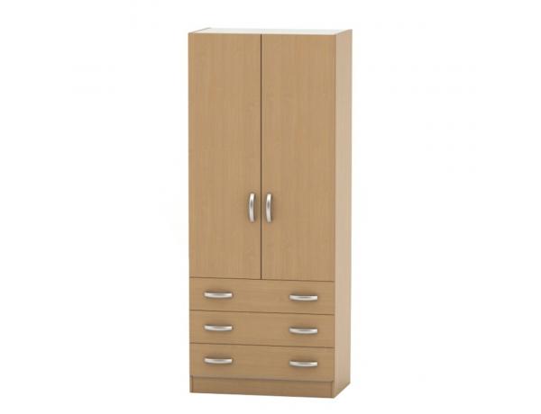2 ajtós szekrény 3 fiókkal, bükk, BETTY 2 BE02-001-00