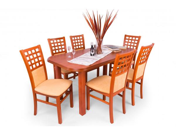 Kármen étkező Pianó asztallal (6 személyes) calvados színben