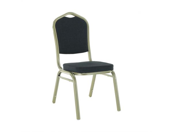 Egymásba rakható szék, szürke/champagne, ZINA 2 NEW