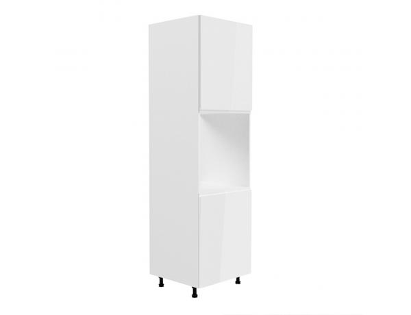 Élelmiszer szekrény, fehér/fehér extra magasfényű, jobbos, AURORA D40SP
