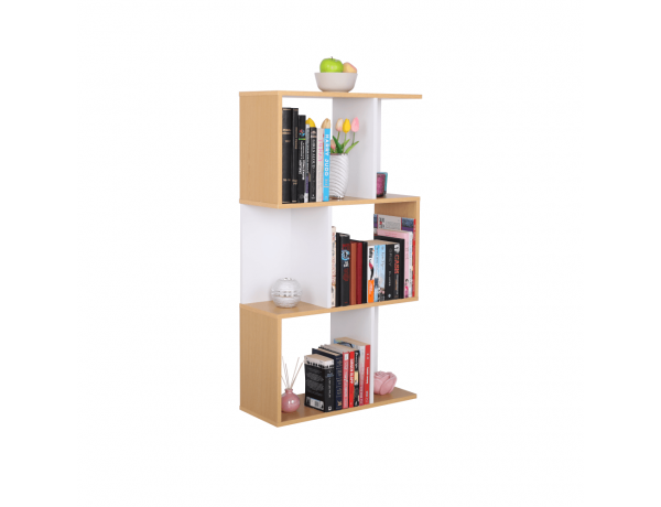 Könyvespolc, tűnyalábos fenyő/fehér, ERDEM NEW TYP 1