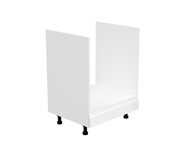 Szekrény a beépíthető készülékekre, fehér/fehér extra magasfényű, AURORA D60ZK