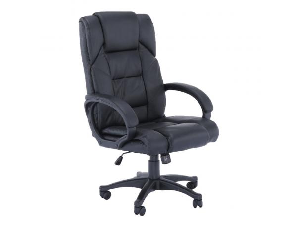 Irodai fotel, fekete textilbőr, SIEMO NEW