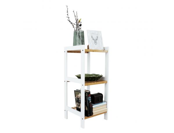 Polc, természetes bambusz/fehér, ERAVA TYP 1